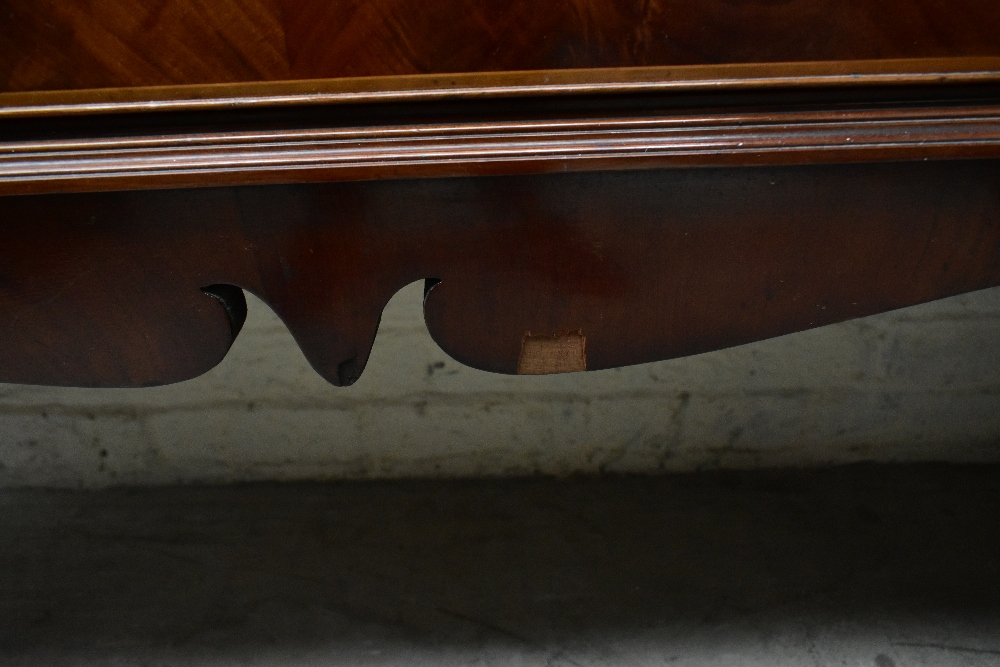 An early 20th century inlaid mahogany inverted breakfront display cabinet, the four astragal - Image 5 of 7
