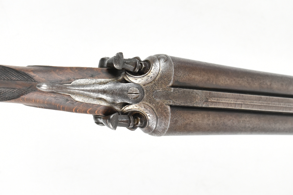 """W.W. Greener; a 12 bore side-by-side hammer gun, the 30"""" barrels with 2.5"""" chambers and mounted with - Image 10 of 12"""