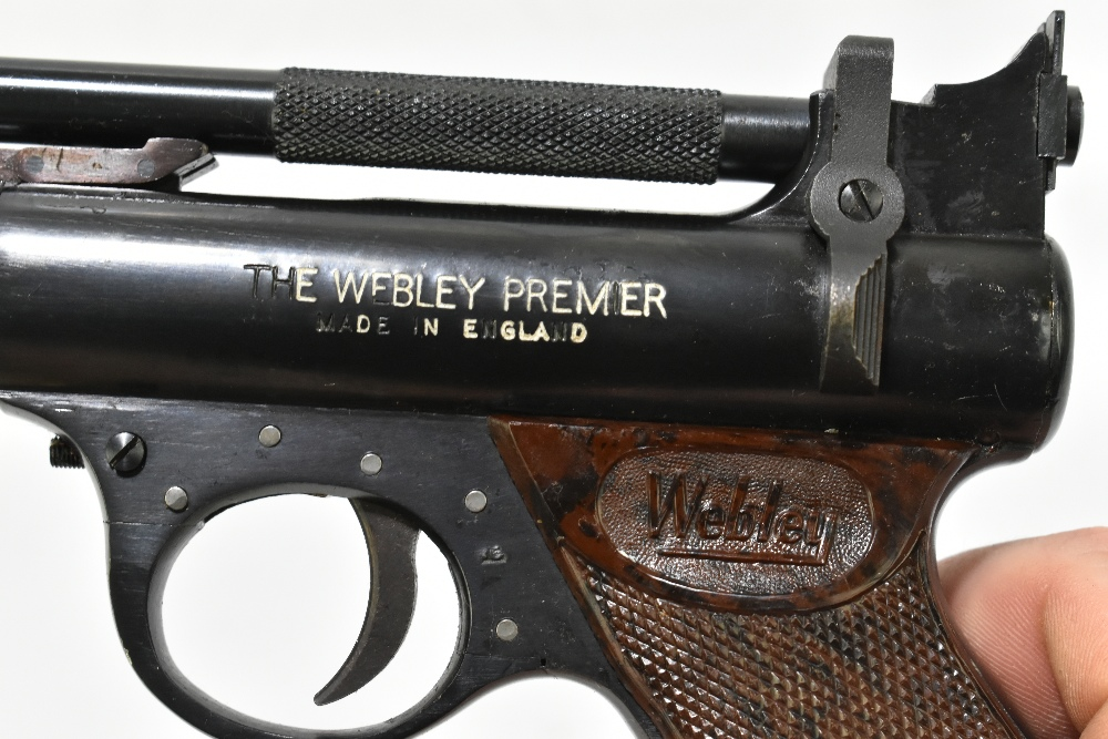 A boxed Webley Premier .22 air pistol with bakelite grips, length 21cm, SN:965. Provenance: The - Image 5 of 6