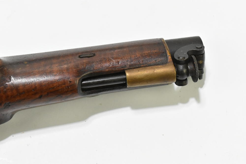 """A 19th century East India Government percussion cap large bore pistol with 8"""" barrel, the lock - Image 5 of 10"""