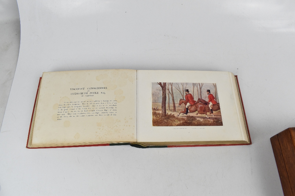 MASSEY (F), PORTRAIT SKETCHES IF CHESHIRE HUNTING MEN FROM 1850 to 1890, gilt red cloth with green - Image 5 of 5