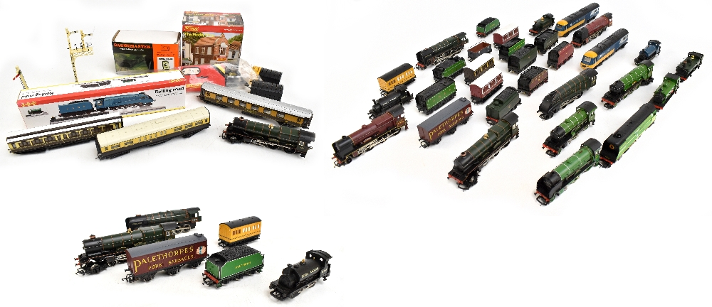 HORNBY; a group of loose model railway comprising sixteen various sized locomotives including