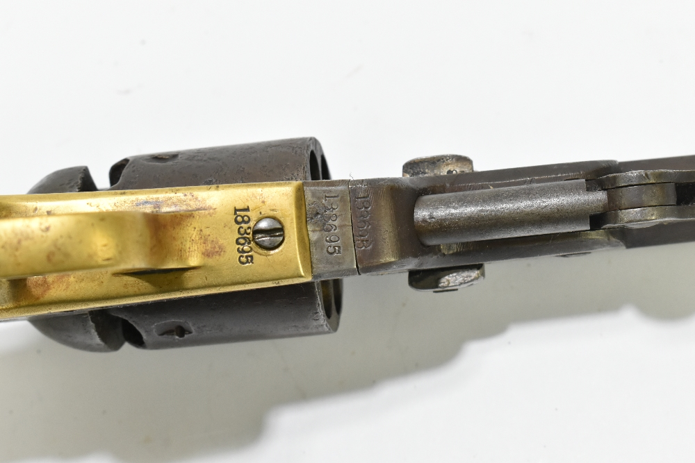 """COLT; a 19th century percussion cap .36 six shot revolver, the 7"""" octagonal barrel stamped with - Image 4 of 6"""