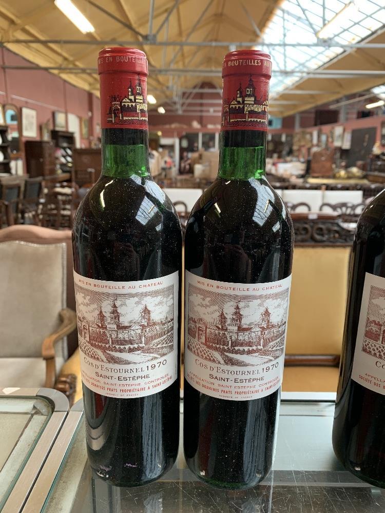 FRANCE; two cases of twelve 1970 Cos D'Estournel Saint-Estèphe bottles of red wine, 75cl (24). - Image 11 of 16
