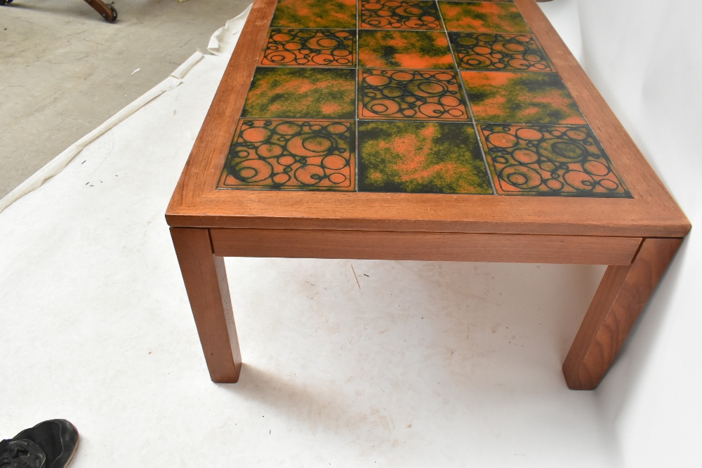 THICH; a mid-20th century Danish teak coffee table, ofrectangular form inset with eighteen - Image 4 of 5