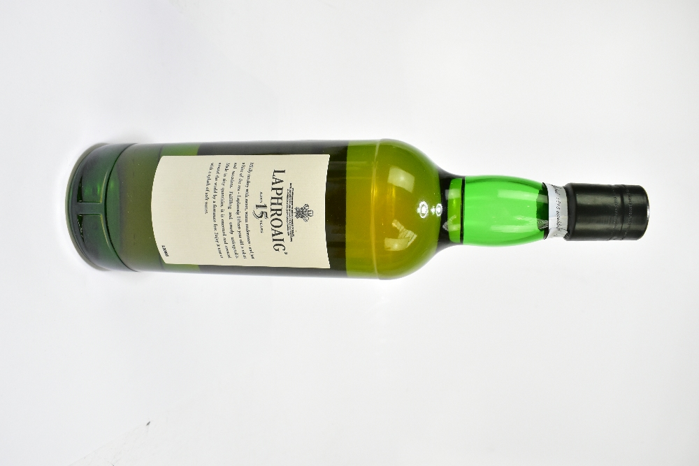 WHISKY; a single bottle of Laphroaig Aged 15 Years single Islay malt Scotch whisky, 70cl, 43%, in - Image 2 of 2