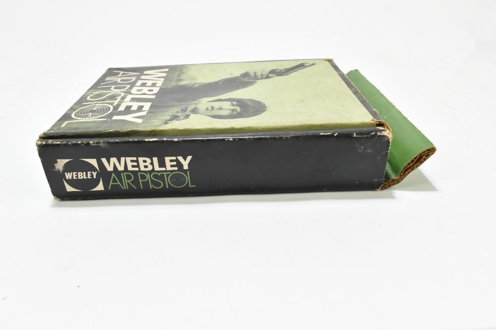 A boxed Webley .177 Junior Mk II air pistol, length 20cm, SN:743. Provenance: The Captain Allan - Image 7 of 9