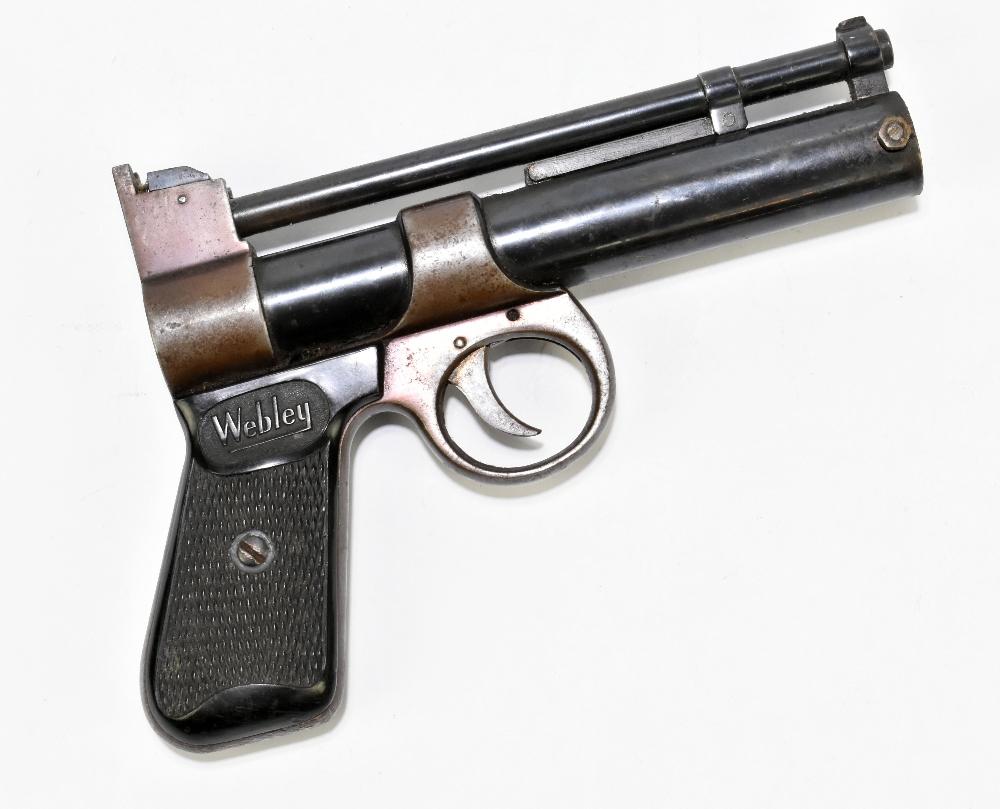 A Webley Junior .177 air pistol with bakelite grips, length 20cm. Provenance: The Captain Allan