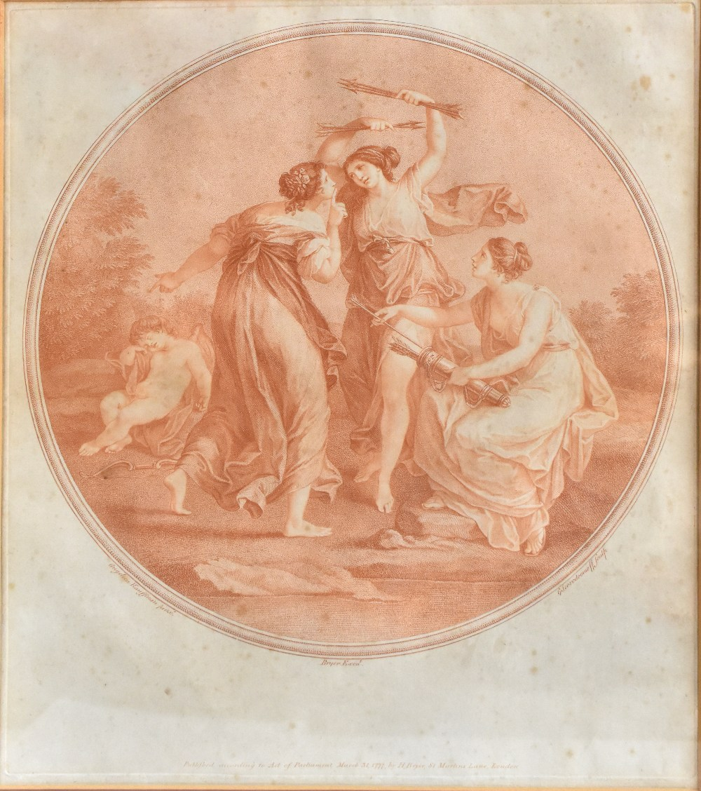 AFTER ANGELICA KAUFFMAN; four late 18th century sepia engravings comprising 'Abelard & Eloise', ' - Image 4 of 5