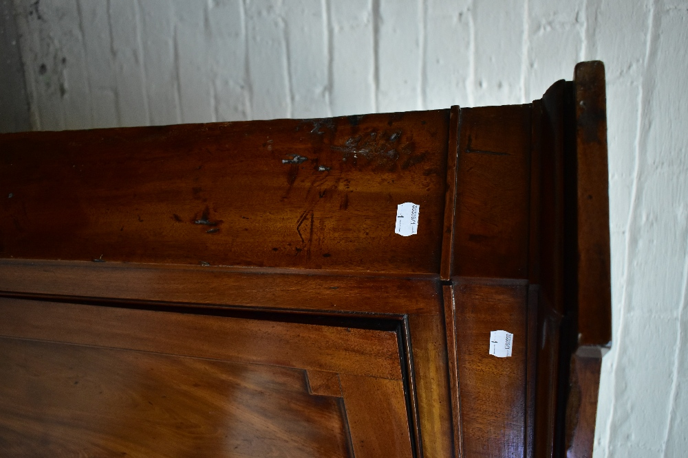 A Georgian flat fronted mahogany corner cupboard with a single panelled door above single drawer, - Image 2 of 3