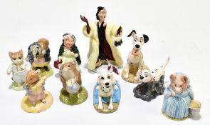 ROYAL DOULTON; four figures from Disney's 100 Dalmatian series, to include 'Cruella Deville', '