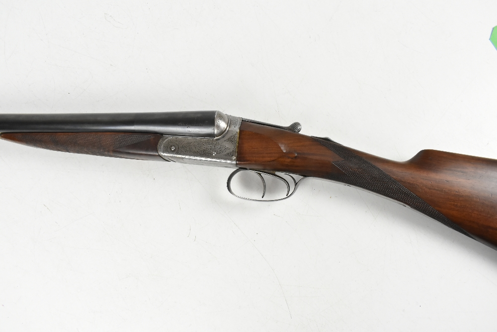 """W. RICHARDS; a 12 bore side-by-side boxlock double trigger non-ejector shotgun, the 28"""" sleeved - Image 9 of 15"""