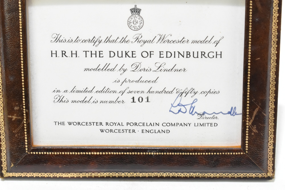 *** WITHDRAWN *** ROYAL WORCESTER; a limited edition figure, 'H.R.H. The Duke of Edinburgh', the - Image 2 of 7