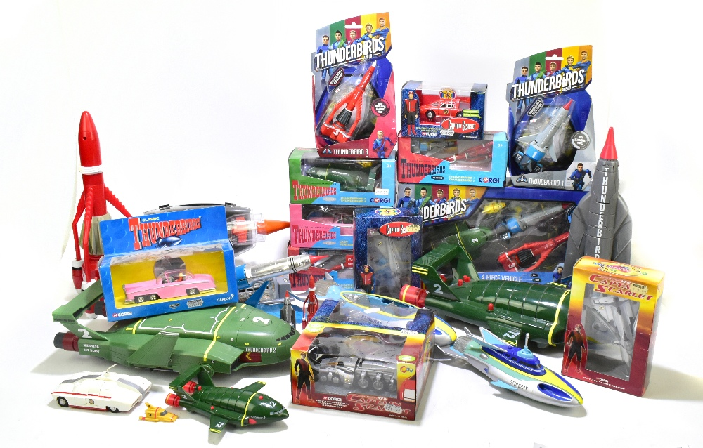 GERRY ANDERSON; five boxed Corgi models comprising four Captain Scarlet examples and a