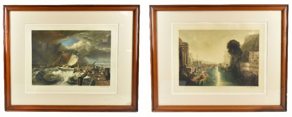 JOHN COTHER WEBB (1855-1927); a pair of pencil prints, depicting classical figures in landscape