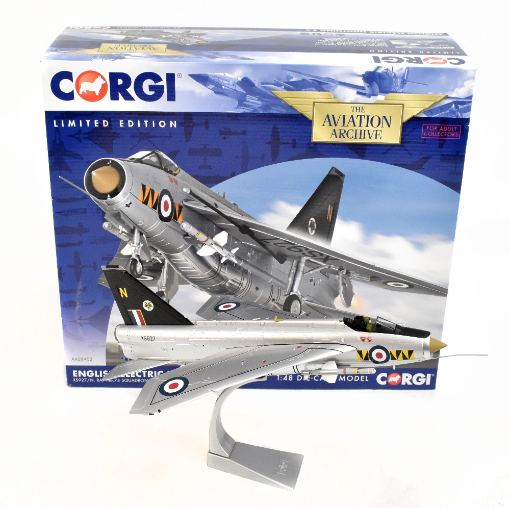 CORGI; a boxed Aviation Archive AA28402 English Electric Lightning F.VI model military aircraft,