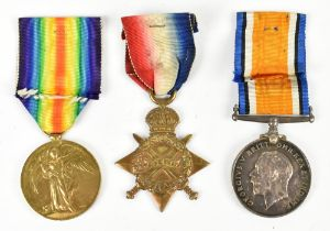 A WWI War, Victory and 1914-1915 Star Medal trio awarded to 1280 Cpl. H. Royston R.A./R.F.A. (3)