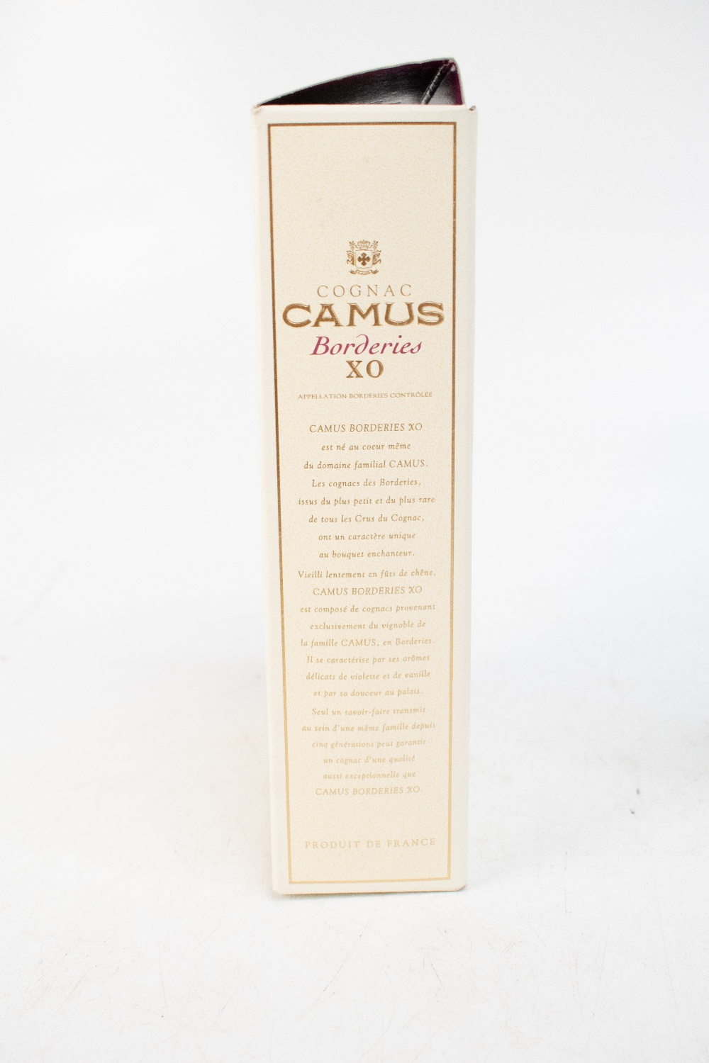 COGNAC; a cased Camus Borderies XO, 70cl.Additional InformationThe level is high shoulder, minor - Image 4 of 4