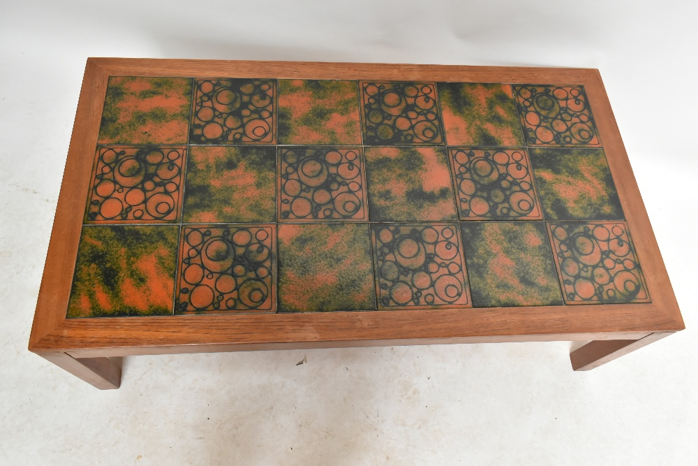 THICH; a mid-20th century Danish teak coffee table, ofrectangular form inset with eighteen - Image 2 of 5