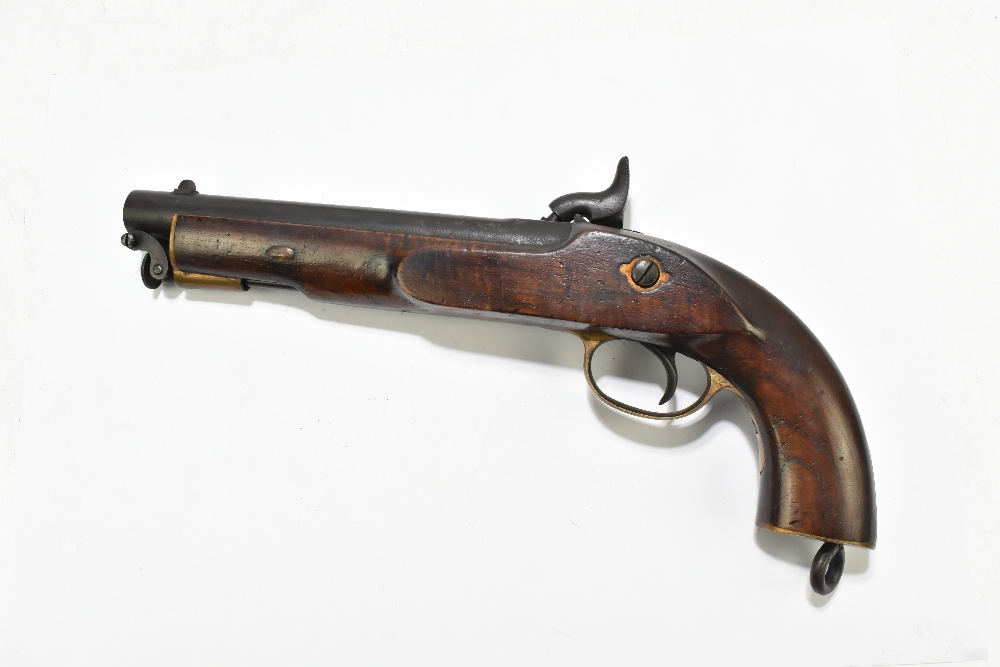 """A 19th century East India Government percussion cap large bore pistol with 8"""" barrel, the lock - Image 8 of 10"""
