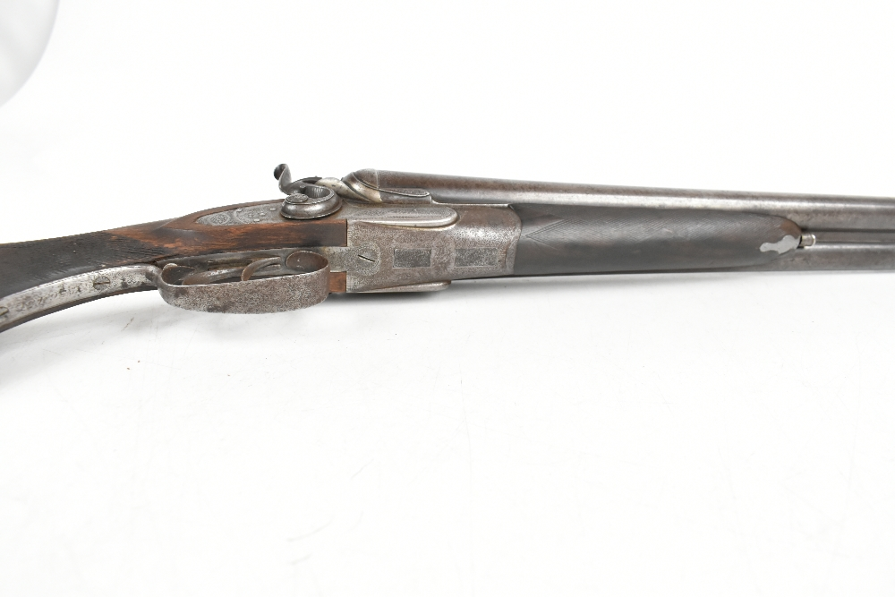 """W.W. Greener; a 12 bore side-by-side hammer gun, the 30"""" barrels with 2.5"""" chambers and mounted with - Image 4 of 12"""