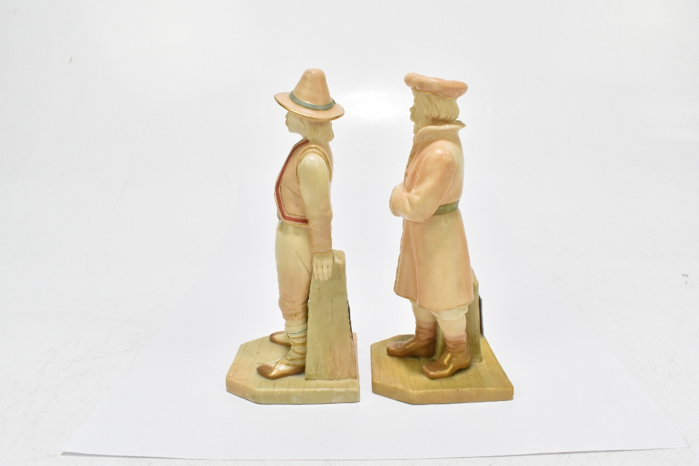 ROYAL WORCESTER; two figures emblematic of countries modelled by James Hadley comprising Russia, - Image 4 of 5