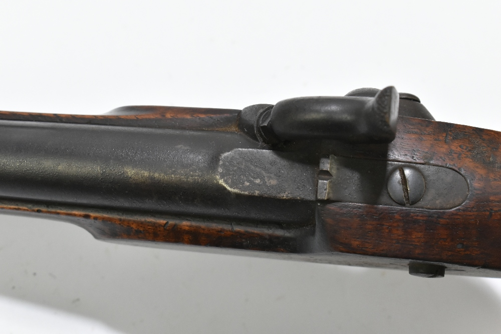 """A 19th century East India Government percussion cap large bore pistol with 8"""" barrel, the lock - Image 9 of 10"""