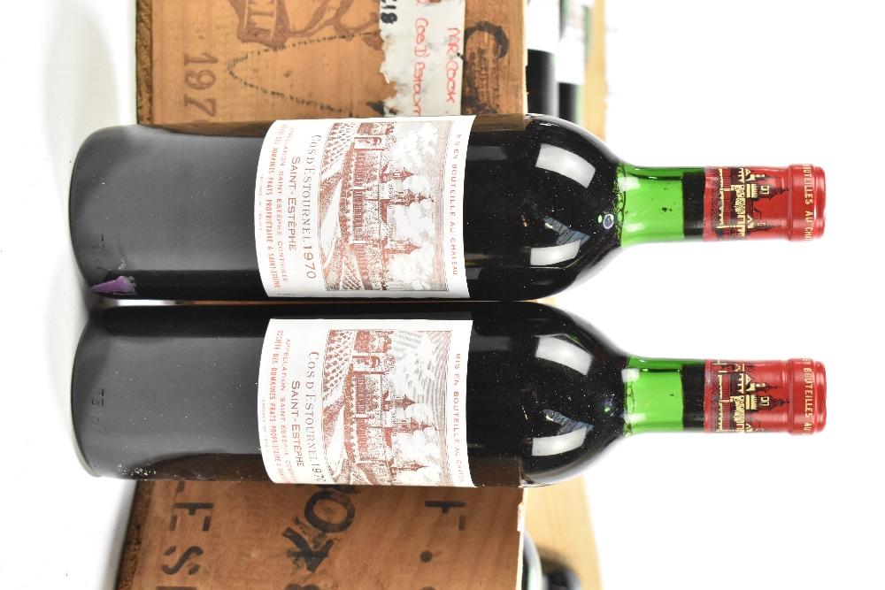 FRANCE; two cases of twelve 1970 Cos D'Estournel Saint-Estèphe bottles of red wine, 75cl (24). - Image 2 of 16