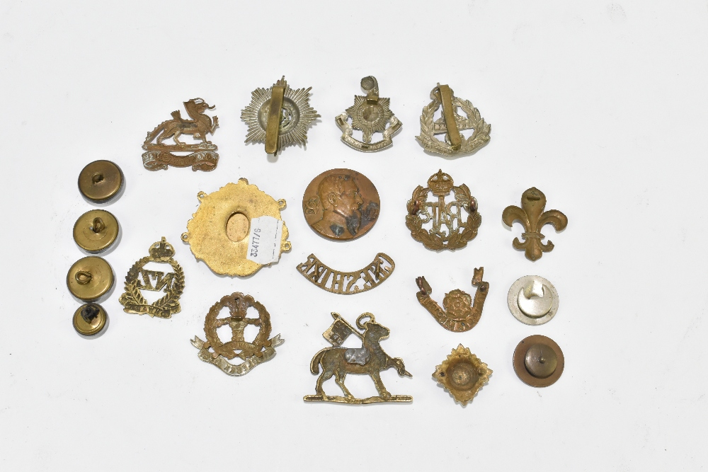 A small group of cap badges including New Zealand 'Onward', Royal Berkshire, Middlesex, RAF, etc, - Image 2 of 2