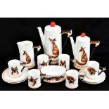 ROYAL DOULTON; a Reynard the Fox sixteen piece coffee service, no.4927, comprising coffee pot and