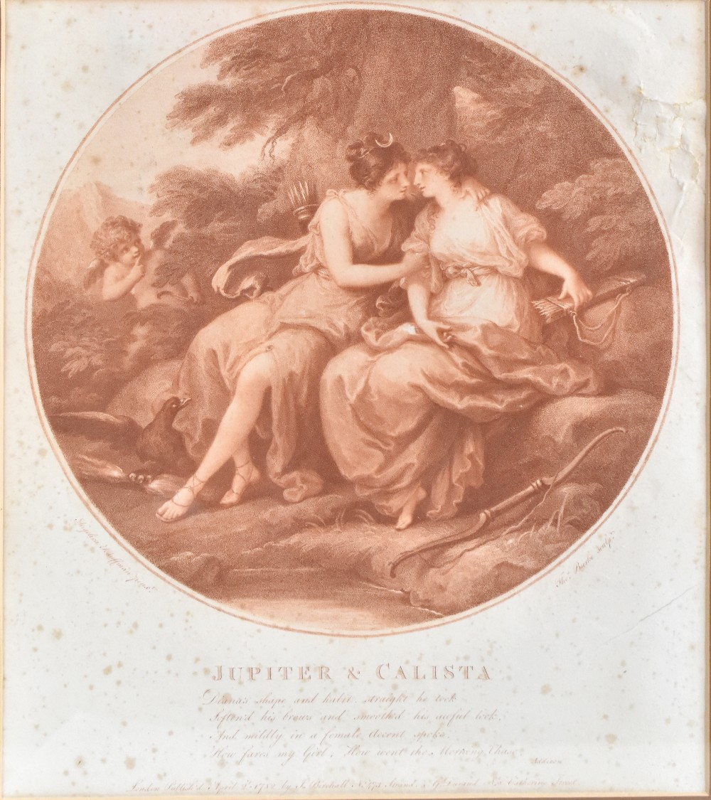 AFTER ANGELICA KAUFFMAN; four late 18th century sepia engravings comprising 'Abelard & Eloise', ' - Image 2 of 5
