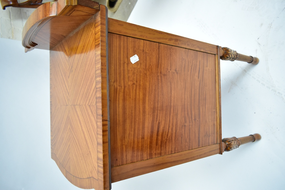 A pair ofEdwardian Sheraton Revival painted satinwood bowfront bedside cabinets, with raised - Image 13 of 13