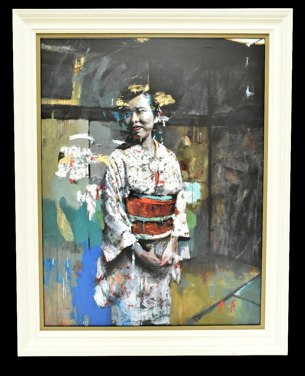 CHRISTIAN HOOK (born 1971); signed limited edition print on board, 'Chajin', edition 16/50,