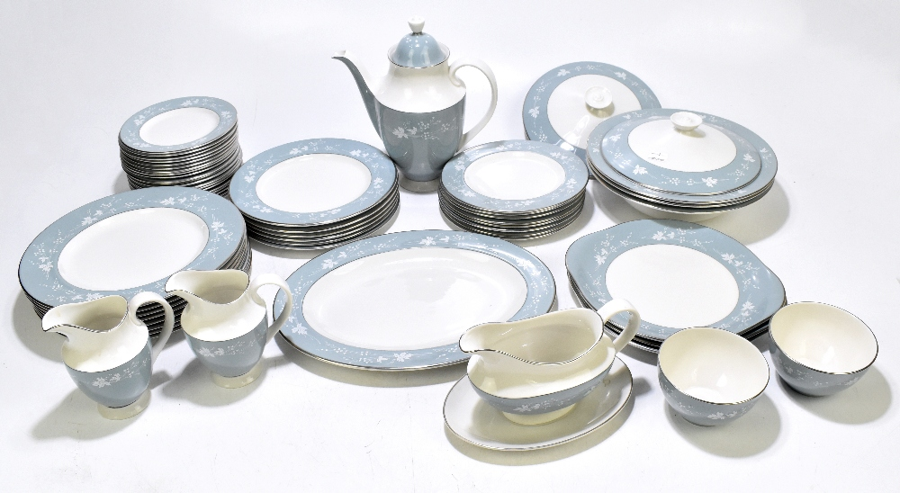 ROYAL DOULTON; a fifty five piece dinner decorated in the 'Reflection' pattern.Additional