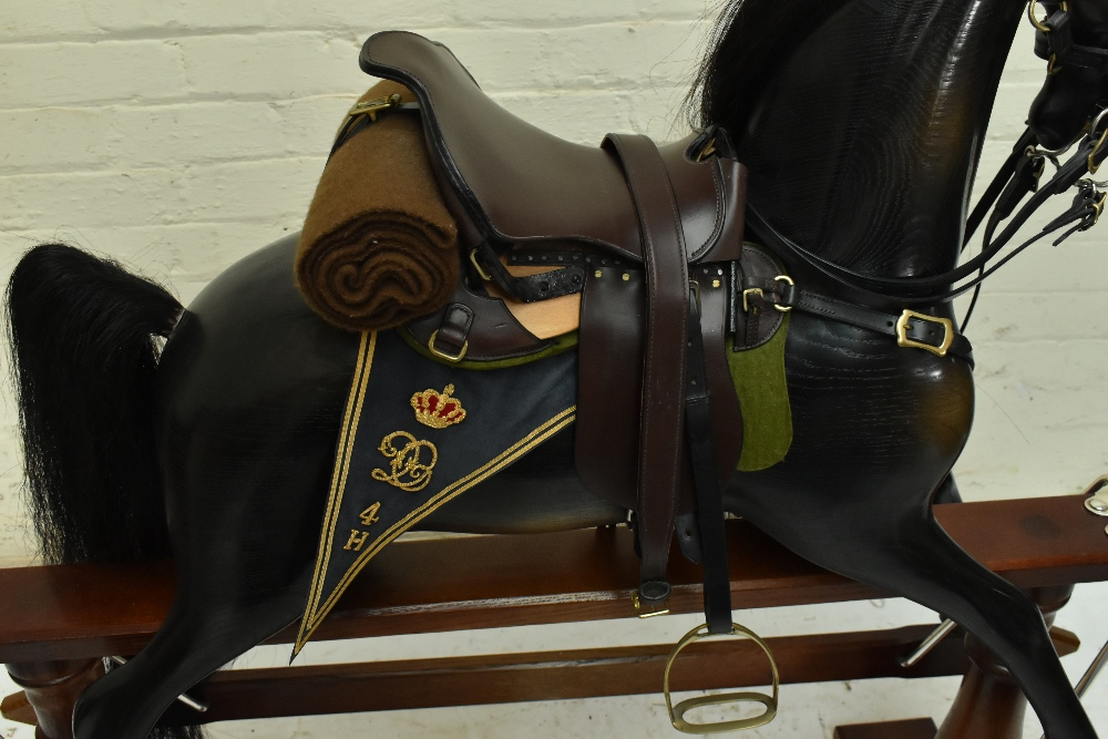 STEVENSON BROTHERS; a good and rare 'Churchill's Charger' rocking horse, in English oak with - Image 11 of 11