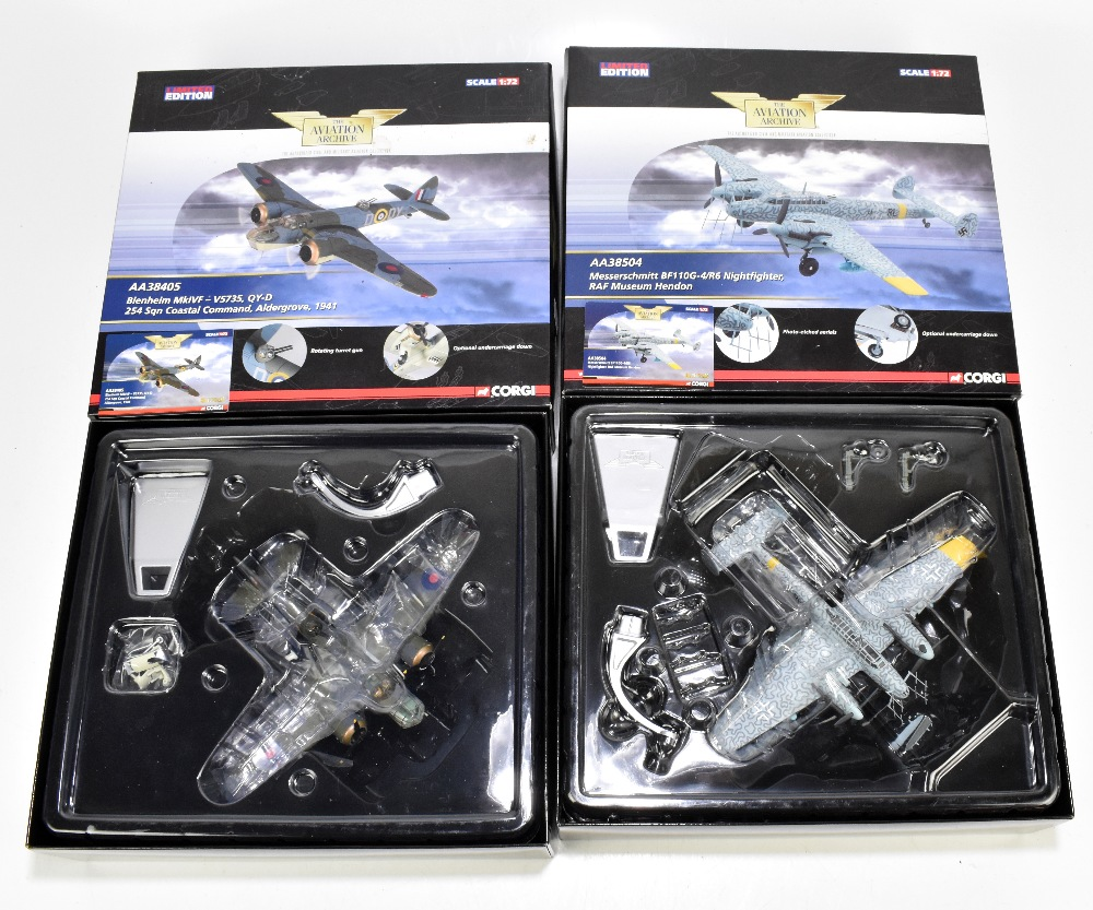 CORGI; two boxed limited edition Aviation Archive models comprising AA38405 Blenheim Mk IVF-V5735,