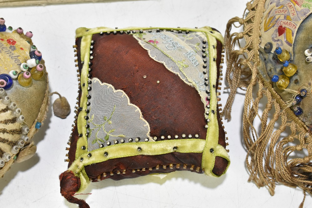 Two sweetheart pincushions for the L.N. Lancashire Regiment and the Queen's Own Cameron Highlanders, - Image 5 of 6