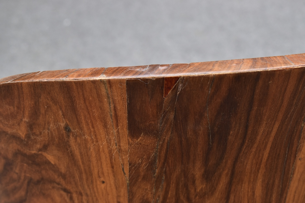 A pair of Art Deco rosewood veneered chairs, with drop-in seats, raised on block supports (2). - Image 5 of 8