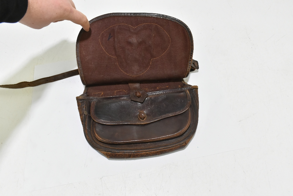 A leather cartridge pouch, approx 21 x 24cm. Provenance: The Captain Allan Marshall Collection. - Image 3 of 3