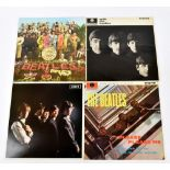 THE BEATLES; three vinyl LP records comprising 'With the Beatles', 'Please Please Me', 'Sgt