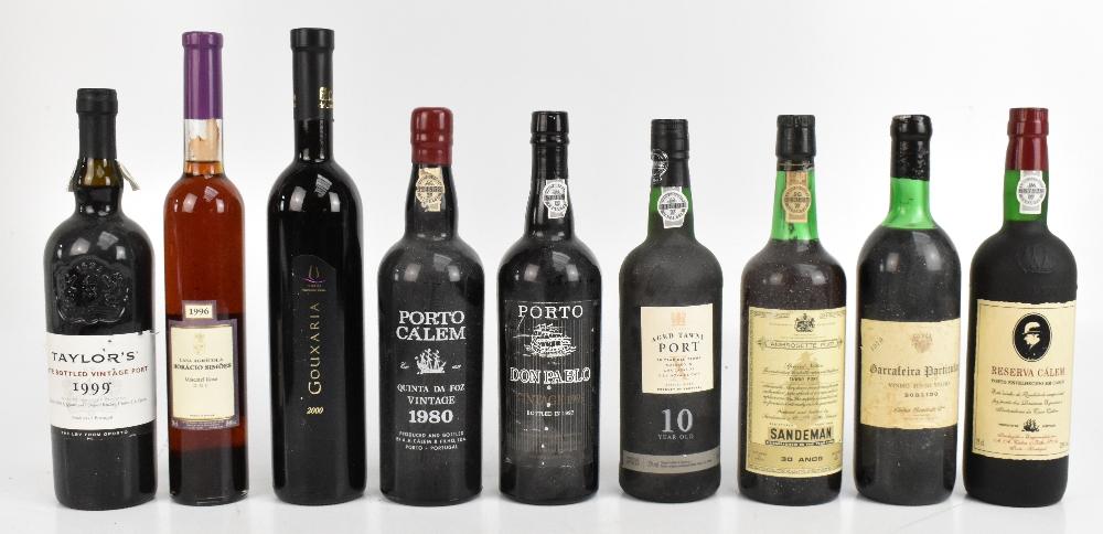 PORT; six bottles comprising Sandeman 30 Anos Tawny, Don Pablo vintage 1995 (bottled 1997), Porto