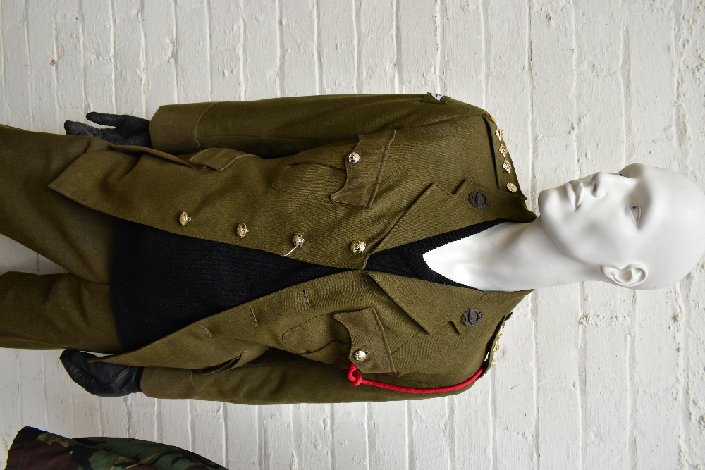 A No.2 dress military tunic with buttons and Tank Corps badges and trousers displayed on a mannequin - Image 2 of 9
