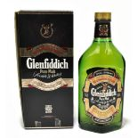 WHISKY; a single bottle of Glenfiddich pure malt Scotch whisky, 50cl, in original box.Additional