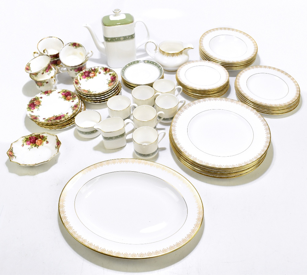 ROYAL ALBERT; a twenty piece part tea set decorated in the 'Old Country Roses' pattern, aRoyal