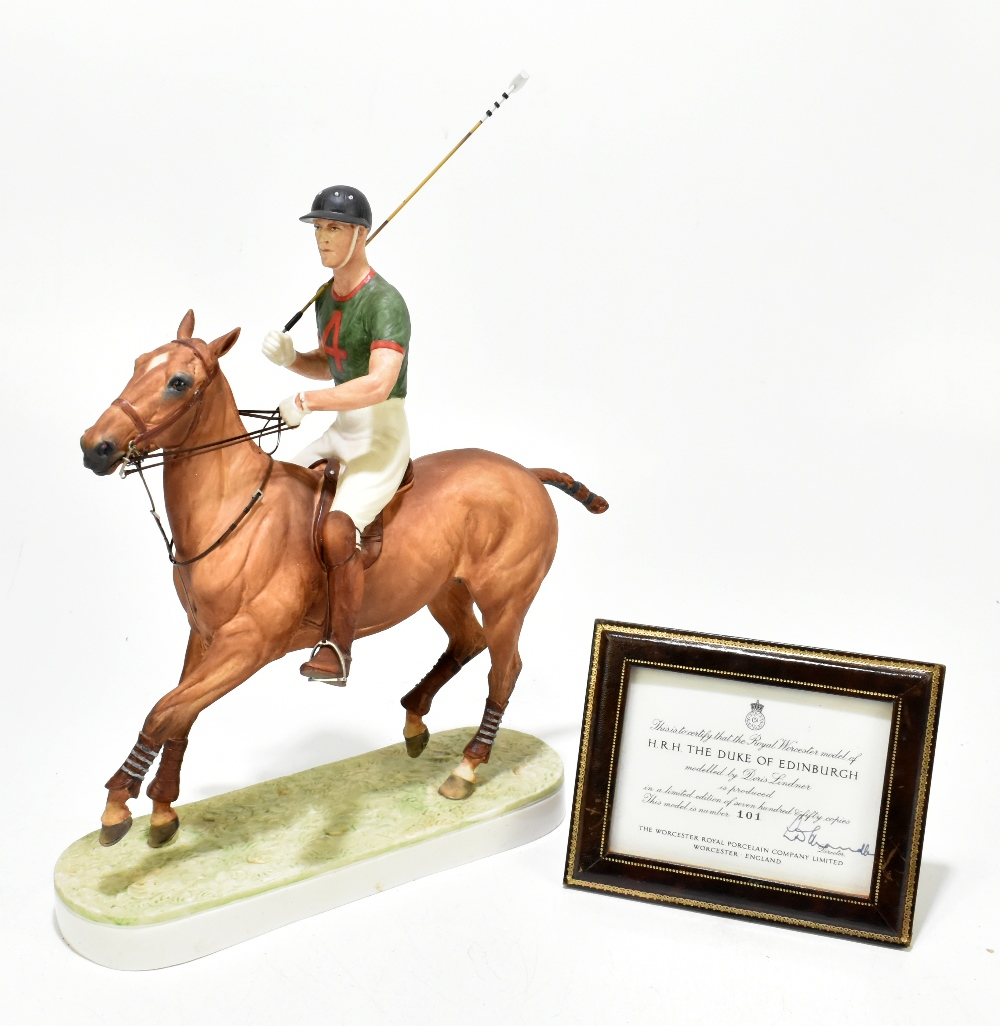 *** WITHDRAWN *** ROYAL WORCESTER; a limited edition figure, 'H.R.H. The Duke of Edinburgh', the