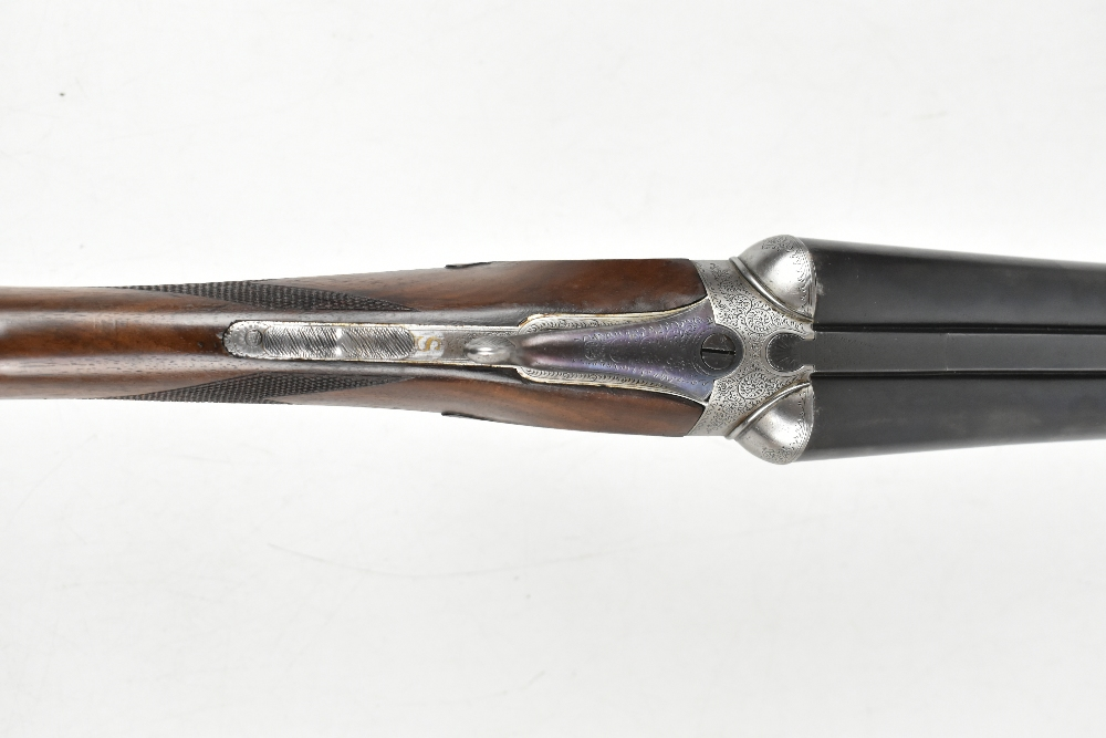 """W. RICHARDS; a 12 bore side-by-side boxlock double trigger non-ejector shotgun, the 28"""" sleeved - Image 12 of 15"""