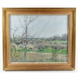CHRISTOPHER SANDERS RA (1905-1991); oil on canvas, 'Landscape at Lower Thornbury', signed, also