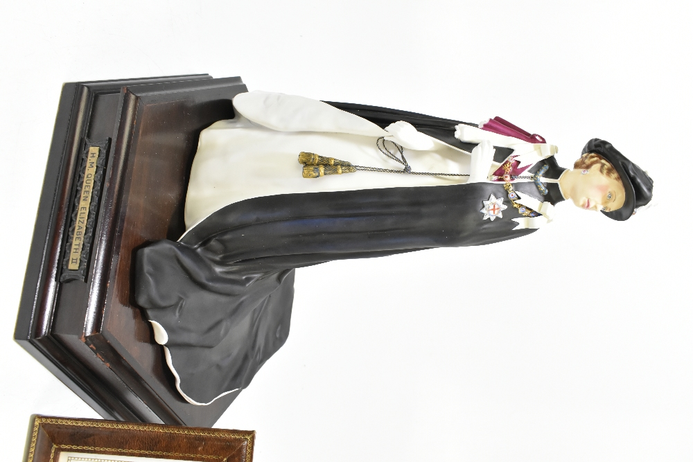 ROYAL WORCESTER; a limited edition figure, 'H.M Queen Elizabeth II', 145/250, modelled by Ronald Van - Image 2 of 8