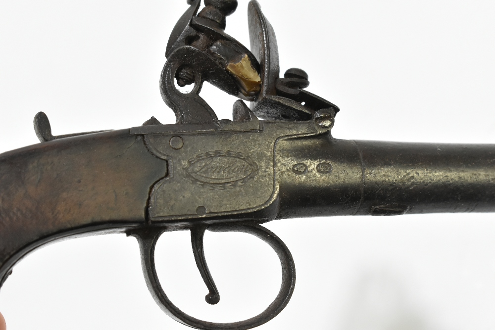 """REA; a 19th century London made flintlock muff pistol with 1.5"""" screw-off barrel, the frame - Image 4 of 7"""