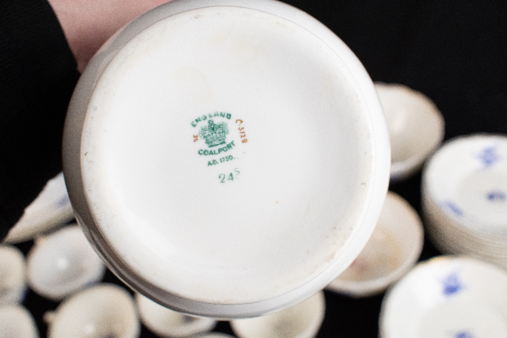 COALPORT; a forty seven piece part tea and dinner service, pattern no.3128, with moulded over - Image 3 of 5